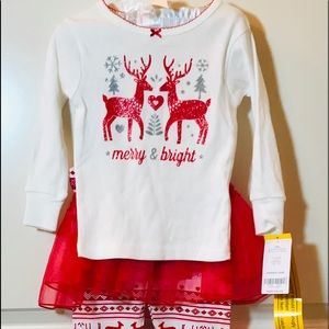 Carters merry and bright pajama set